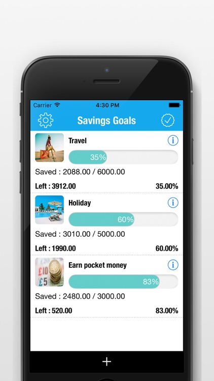 Saving Money Manager - Daily Savings Goals Tracker
