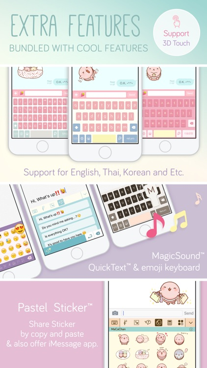 Pastel Keyboard Themes Extension - 100+ Cute Color screenshot-3