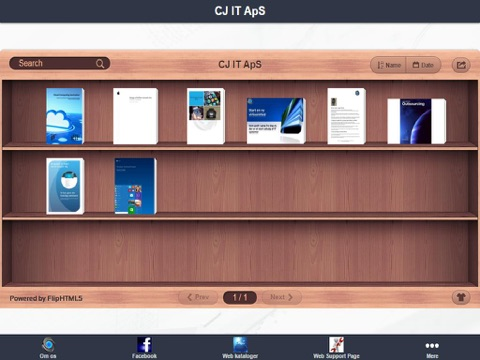 CJ IT ApS App - náhled
