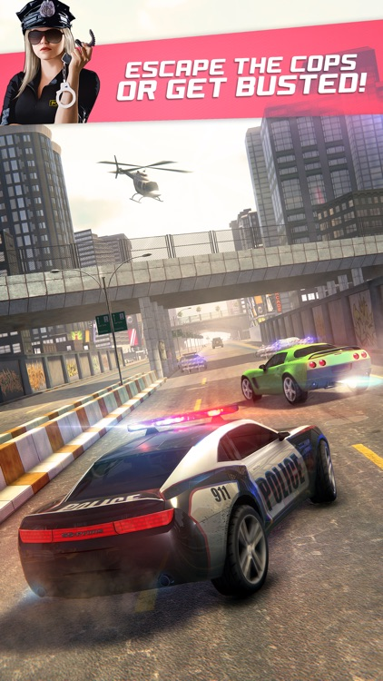 Highway Getaway: Police Chase - Car Racing Game screenshot-0