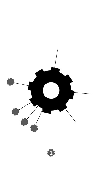 Cogwheels BW : black & white rotating gear wheel screenshot-3