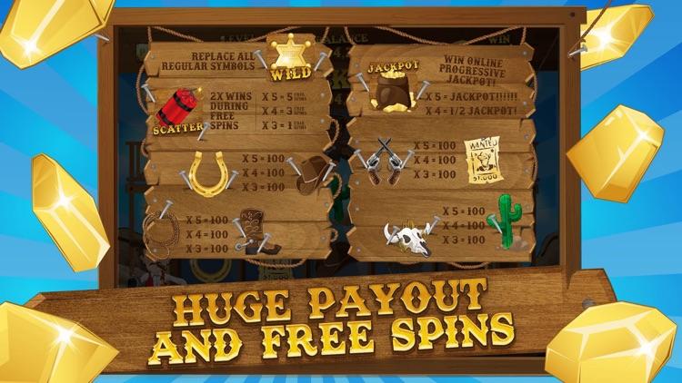 Horseshoe Casino - Cowboy Slots Machine with Bonus screenshot-3