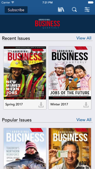 Aboriginal Business Quarterly screenshot one