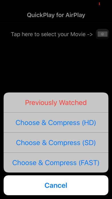 Screenshot for Quick AirPlay - Optimized for your iPhone videos in Denmark App Store