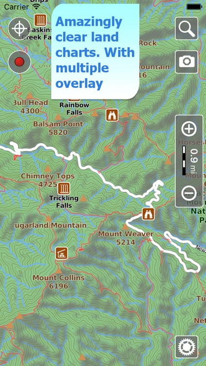 Trails of Great Smoky Mountains - GPS for Hiking