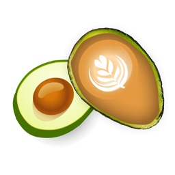 Avolatte - Avocado and Coffee Stickers