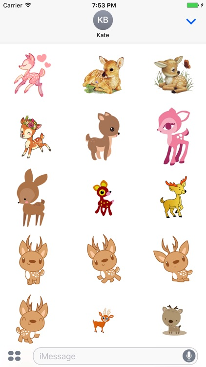 DeerCute - Deer Stickers And Emoji Pack