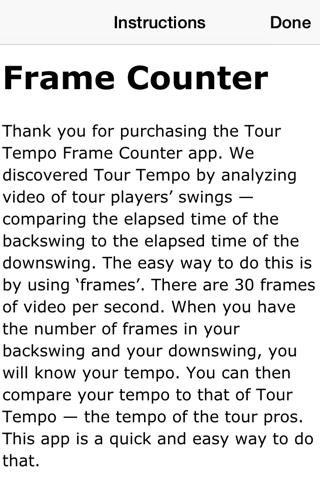 Tour Tempo Frame Counter Golf - náhled