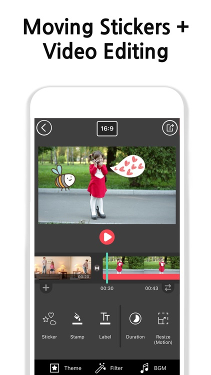 Vimo - Video editor + Motion Sticker and Text screenshot-3