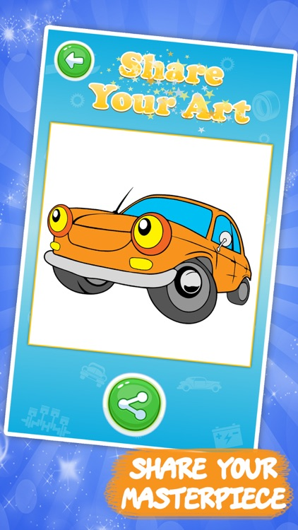 Best coloring book: Cars screenshot-3