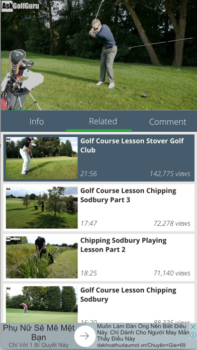 Golf tutorial and highlight - learning, practice screenshot one