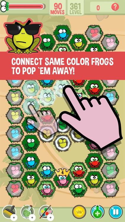Pop Frogs: Match-3 puzzle screenshot-0