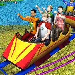 Theme Park Roller Coaster Ride
