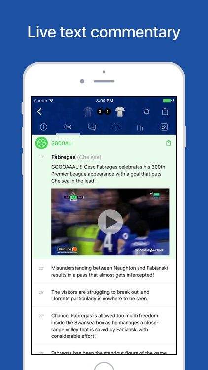 CFC Live – Scores & News for Chelsea Fans screenshot-1