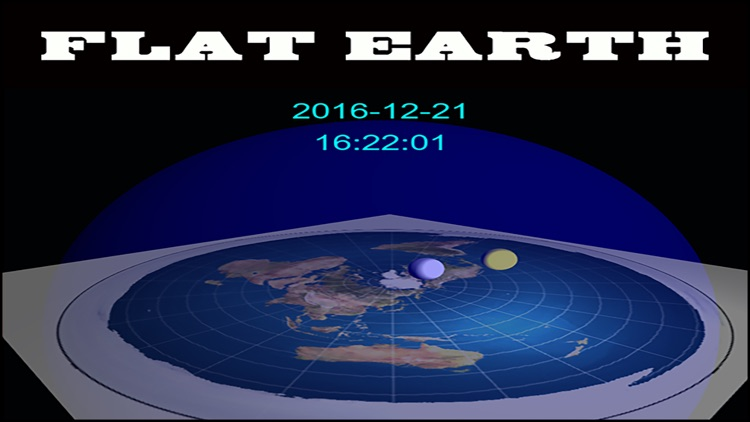 flat earth digital 3D clock