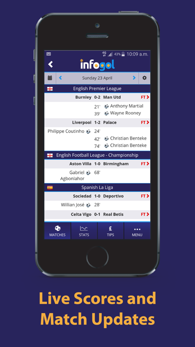 Infogol – Expected Goals App screenshot four