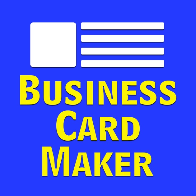 Business card maker design a business card on the app store reheart Image collections