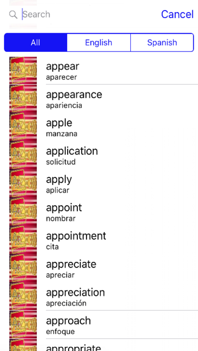 Spanish Dictionary GoldEdition screenshot 4