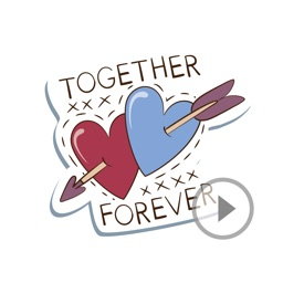 Animated Forever Love Stickers