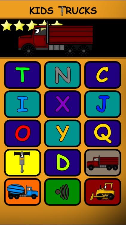 Kids Trucks: Preschool Learning Education Edition