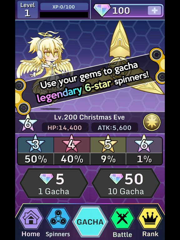 Anime Fidget Spinner Battle screenshot 9
