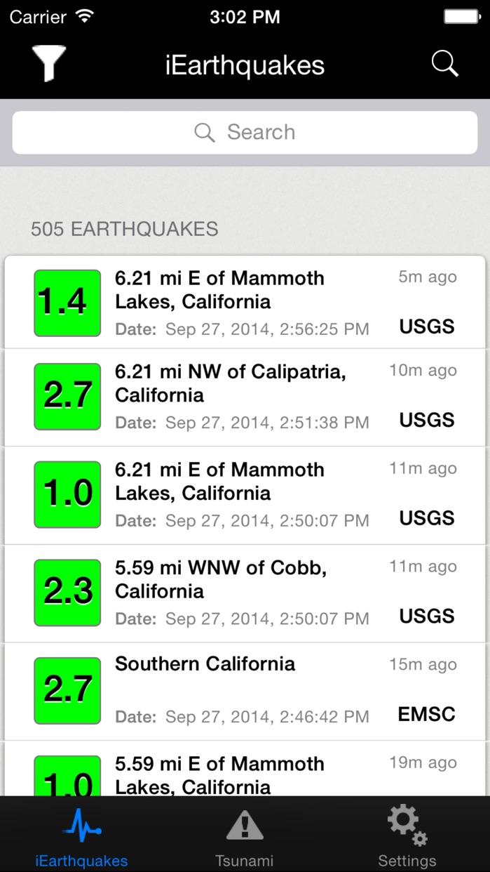 iEarthquake Lite Screenshot