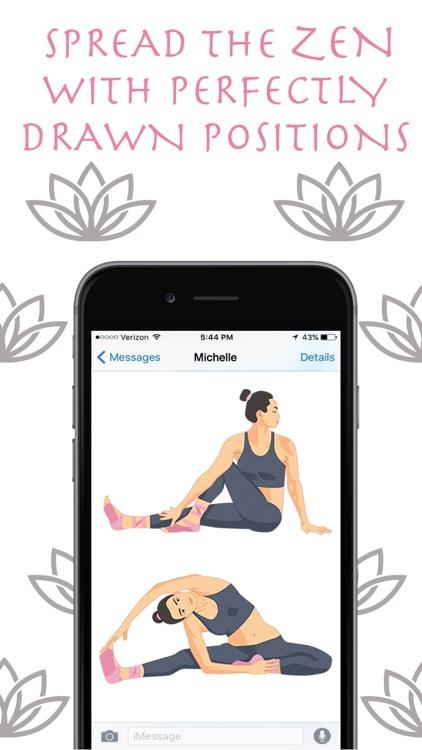 Zen Mojis - Yoga Emoji Keyboard and Stickers screenshot-4