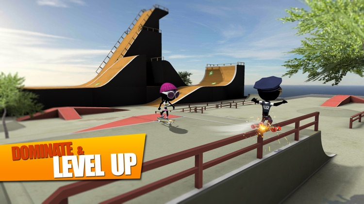 Stickman Skate Battle screenshot-4