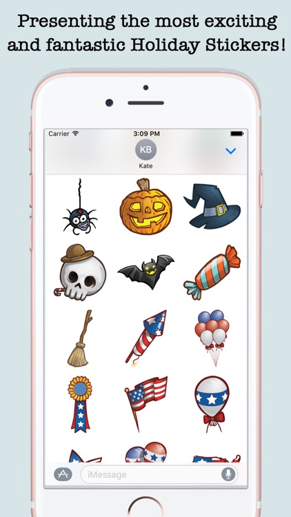 Animated Holidays Sticker Pack For iMessage screenshot-3