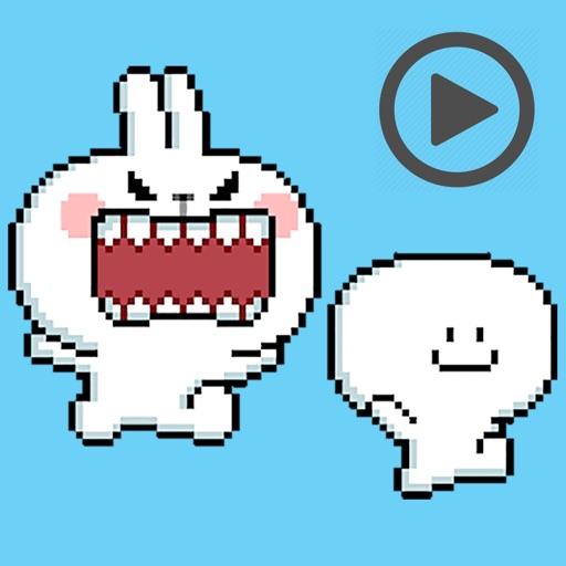 Pixel Cool Rabbit Animated