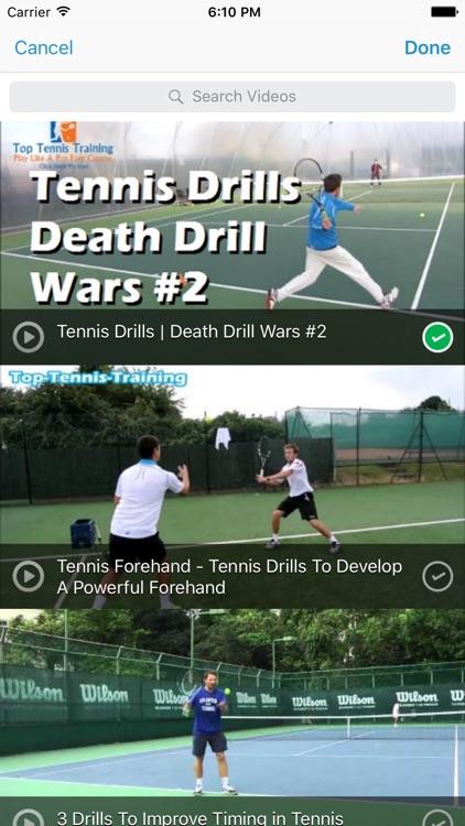 InfiniteTennis Practice Planner screenshot-3