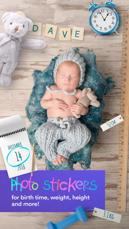 Baby Moments - pregnancy & baby milestone photos screenshot-0