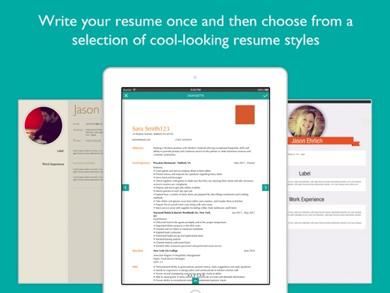 Resume Designer Pro Screenshots