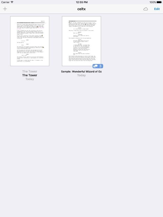 celtx script on the App Store