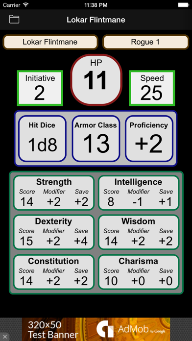 Fifth Edition Character Sheet by Walter Kammerer (iOS