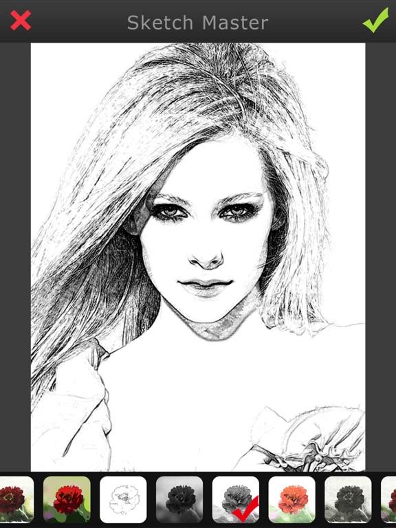 Photo Sketch-Pencil Cartoon Filter Picture Shop For Path,SnapChat,Kik,Hotmail&Tango screenshot