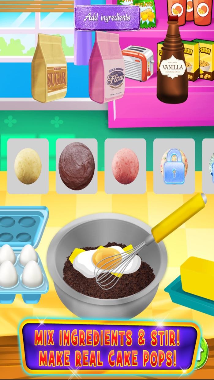 Cake Pop Maker - Cooking & Baking Games Kids Screenshot