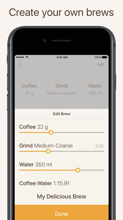 Brew Timer - Coffee Timer and Recipe Organizer