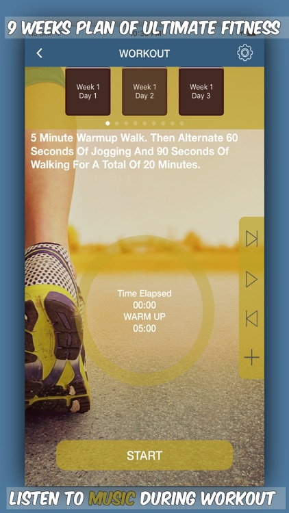 Couch To 5K Workout-Run, Jog, Walk