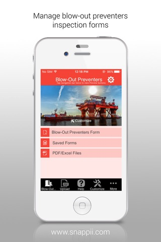 Blow-Out Preventers Inspection App - náhled