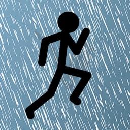 Running Man in the Rain