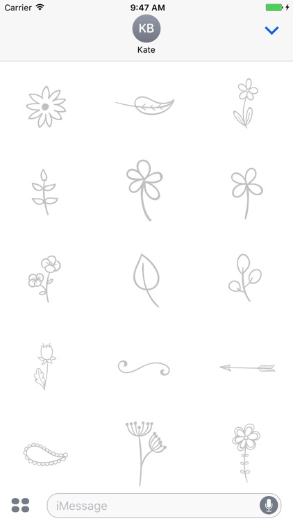 Animated Cute Flower Stickers