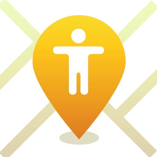 iMap Find my Phone, Friends, iPhone Family Tracker app logo