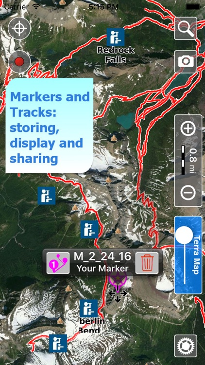 Trails of Glacier NP - GPS and Topo Maps Hiking screenshot-3