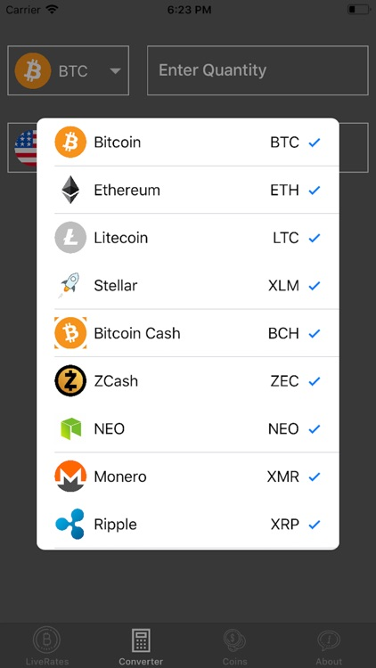 Live Crypto Rates Converter screenshot-3
