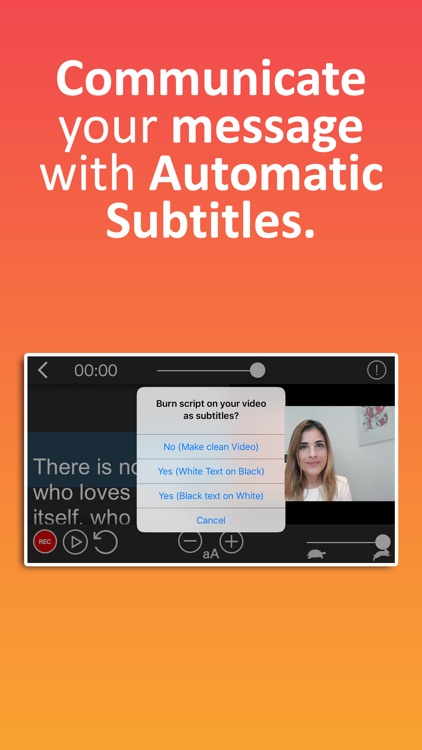Teleprompter Auto Subtitler screenshot-1