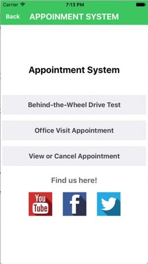 dmv drivers permit test appointment