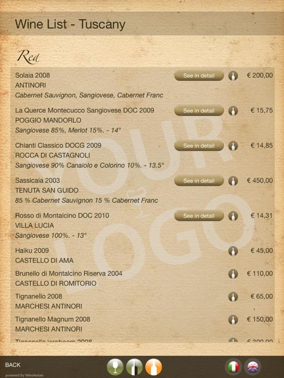 WineAmore - Digital Wine List screenshot-3