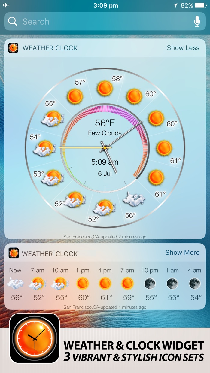 Weather Clock Widget Screenshot