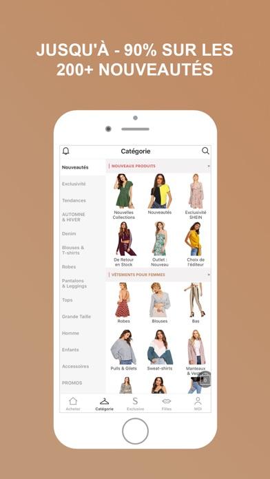 shein vente privee mode femme app revisi n shopping. Black Bedroom Furniture Sets. Home Design Ideas
